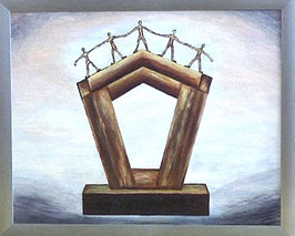 "Skulpturen Ölbild ""Innovativer Fortschritt"""