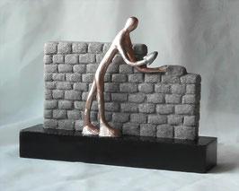 """Skulptur """"Stein auf Stein zum großen Werk"""""""