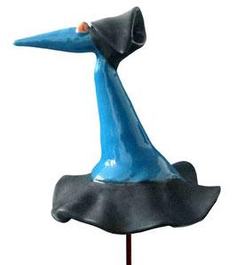 "Skulptur ""Fantasievogel blau"" 40 cm"