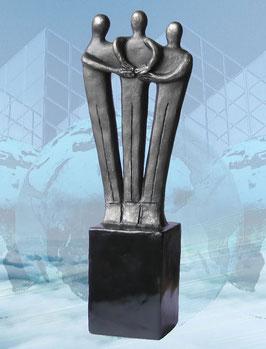 """Skulptur """"Gemeinsam stark"""""""