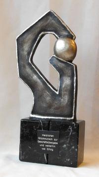 """Skulptur """"Gratulation"""""""