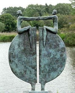 "Skulptur aus Bronze ""Neue Perspektive"" 115 cm"