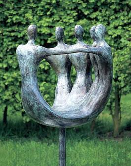 """Skulptur aus Bronze """"Miteinander"""" 103 cm"""