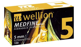 Wellion MEDFINE plus Pennnadeln 0,25x5mm (31G) - 100 ST