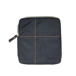 Diabetikertasche - Nylon/Leder, schwarz  - 16,5 x 18 x 3 cm - diabag ONE XL