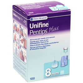 Unifine Pentips Plus Pennadeln Set 0,25x8mm (31G) - 100 ST