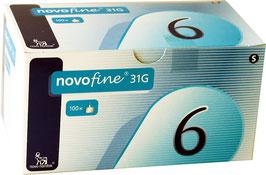 Novofine Pennadeln 6mm (31G) - 100 St