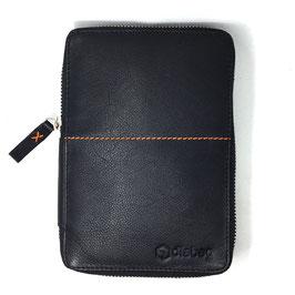 Diabetikertasche - Leder, schwarz - 12 x 17,5 x 3 cm - diabag ONE plus