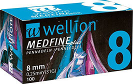 Wellion MEDFINE plus Pennnadeln 0,25x8mm (31G) - 100 ST