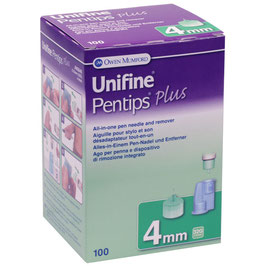Unifine Pentips Plus Pennadeln Set 0,23x4mm (32G) - 100 ST