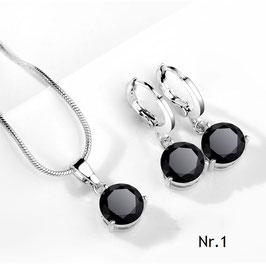 Bling-Duo für brillante Auftritt - Halskette und Ohrringe
