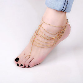 Barfuss-Sandalen: Gold