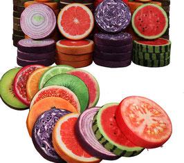 Kissen im Früchte/Gemüselook