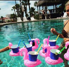 Aufblasbare Becherhalter-Flamingos