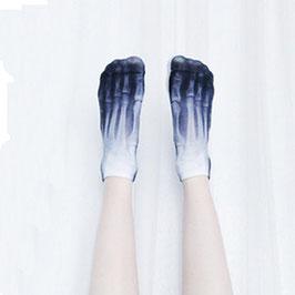 Kurze Socken im Skelett Look