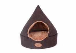 Katzenbett in der Form einer Schokoladenpraline