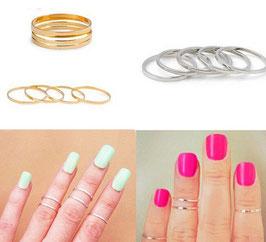 TREND Mini-Fingerringe in gold und silber