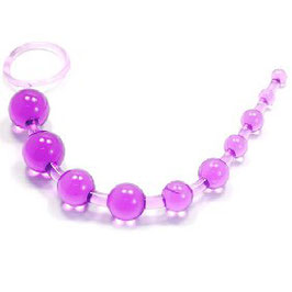 PURPLE 10 BEADS ANAL TOY