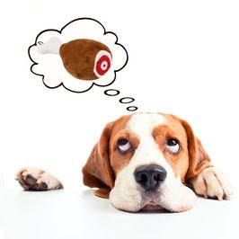 Quietschendes Hundespielzeug-Schinken