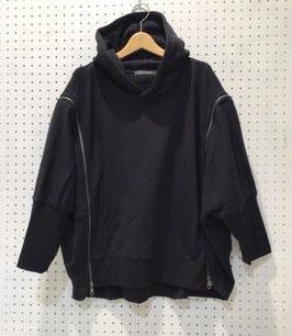 NAKAGAMI 肩ファスナーフーディー(black)