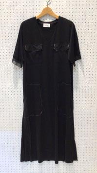 Harikae V neck dress (Black)