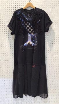 YuumiARIA EMBROIDARY LONG Tシャツ ①
