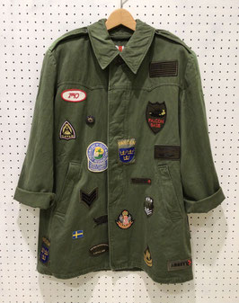 YuumiARIA PATCHWORK MILITARY JACKET ⑥