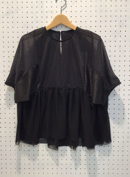 NAKAGAMI ティアードカットソー(black)