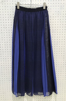 NAKAGAMI  blue check Long Skirt