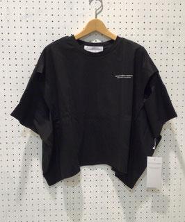 ロゴ入りワイドTシャツ(BLACK)