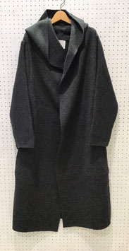 ADAWAS AIRY HOODED カーディガン(CHARCOAL)