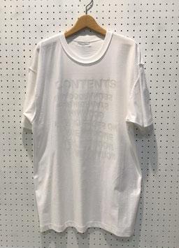 BODYSONG. リフレクタープリントTシャツ(White)