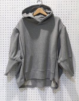 NAKAGAMI 肩ファスナーフーディー(Iight gray)
