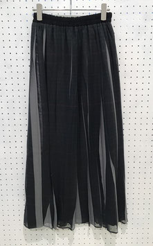 NAKAGAMI  gray check Long Skirt
