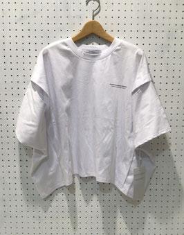 ロゴ入りワイドTシャツ(WHITE)