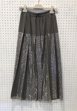 NAKAGAMI ツィード柄プリーツスカート