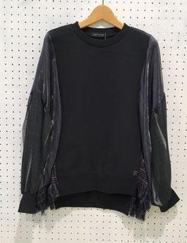 NAKAGAMI  袖シースルーP/O (black)