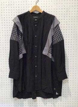 NAKAGAMI フリルシャツ(black)