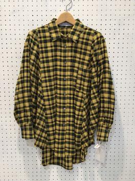 チェックシャツ(YELLOW)