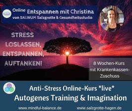*Live*-Online-Kurs Autogenes Training & Imagination, Di, 19. Mai-14. Juli von 19.00-20.15 Uhr (8x)