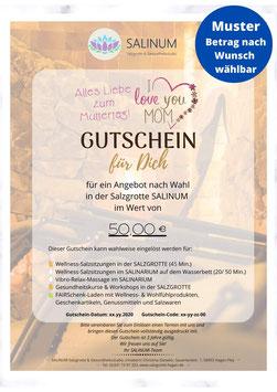 """Wert-Gutschein zum Selbstdrucken: Anlass """"Muttertag"""""""