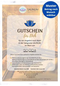 """Wert-Gutschein zum Selbstdrucken: Anlass """"Wellness-Auszeit"""""""