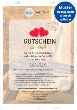 """Wert-Gutschein zum Selbstdrucken: Anlass """"Romantisch"""""""