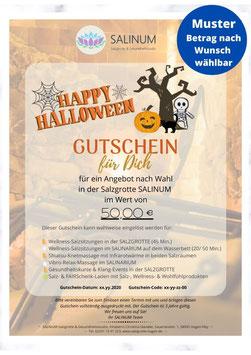 """Wert-Gutschein zum Selbstdrucken: """"Halloween"""""""