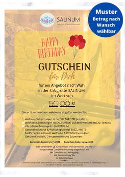 """Wert-Gutschein zum Selbstdrucken: Anlass """"Geburtstag"""""""