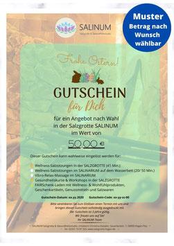 """Wert-Gutschein zum Selbstdrucken: """"Frohe Ostern!"""""""