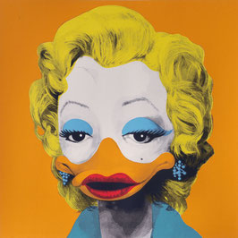"Original-Siebdruck ""Dandy Borehole - Marta Mortenson (D), orange"""