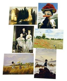 Postkartenset mit 6 Karten / Set #8