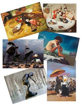 Postkartenset mit 6 Karten / Set #15