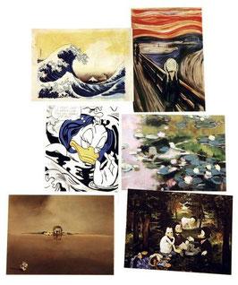 Postkartenset mit 6 Karten / Set #9